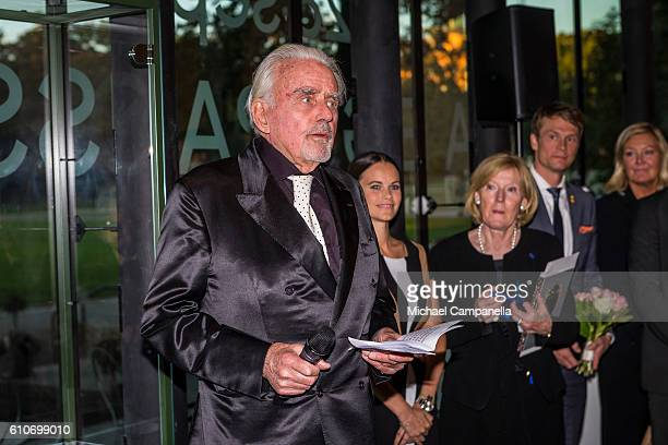 SvenHarry Karlsson attends the opening of the 'Porphyry The Royal Stone' exhibition at SvenHarrys art museum on September 27 2016 in Stockholm Sweden