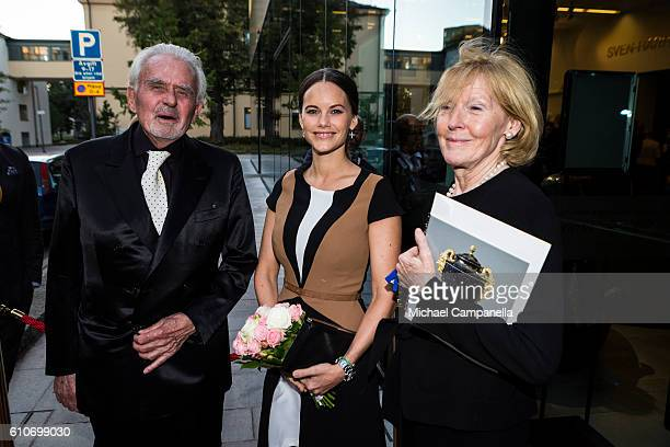 SvenHarry Karlsson Princess Sofia of Sweden and Elsebeth WelanderBerggren attend the opening of the 'Porphyry The Royal Stone' exhibition at...