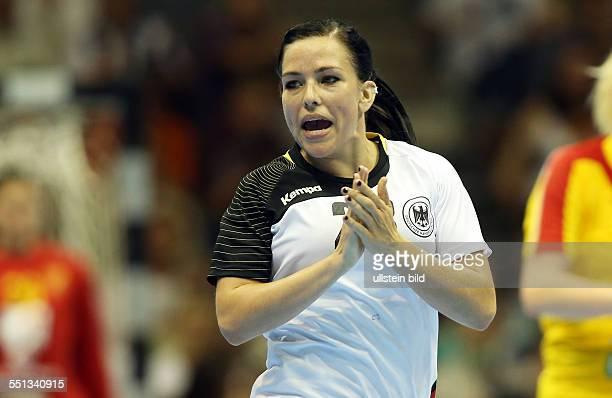 Svenja Huber Einzelbild Aktion BR Deutschland DHB Laenderspiel Länderspiel EM Qualifikation Europmeisterschaft Nationalmannschaft Sport Handball...