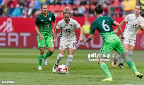Svenja Huth of Germany in action during the 2019 FIFA women's World Championship qualifier match between Germany and Slovenia at Audi Sportpark on...