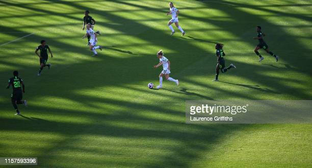 Svenja Huth of Germany runs with the ball during the 2019 FIFA Women's World Cup France Round Of 16 match between Germany and Nigeria at Stade des...