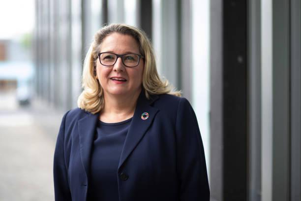 DEU: Germany's Environment Minister Svenja Schulze Climate Overhaul Statement