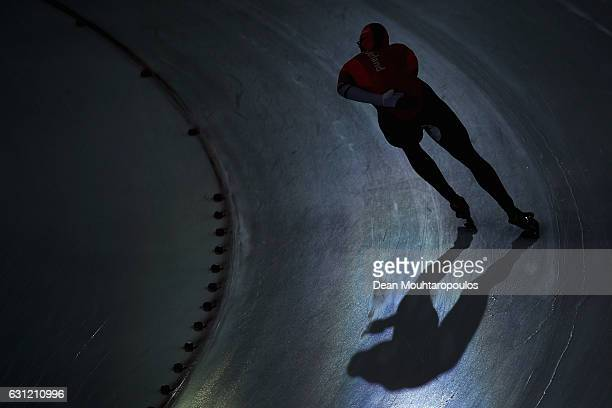 Sven Kramer of the Netherlands competes in the 1500m Men Allround Race on Day Three of the ISU European Speed Skating Championships held at the...
