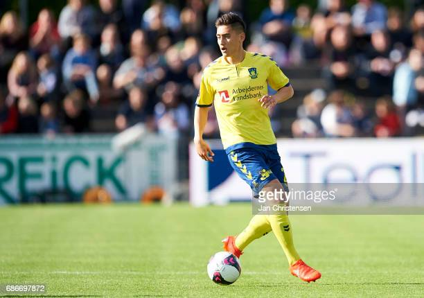 Svenn Crone of Brondby IF in action during the Danish Alka Superliga match between SonderjyskE and Brondby IF at Sydbank Park on May 21 2017 in...