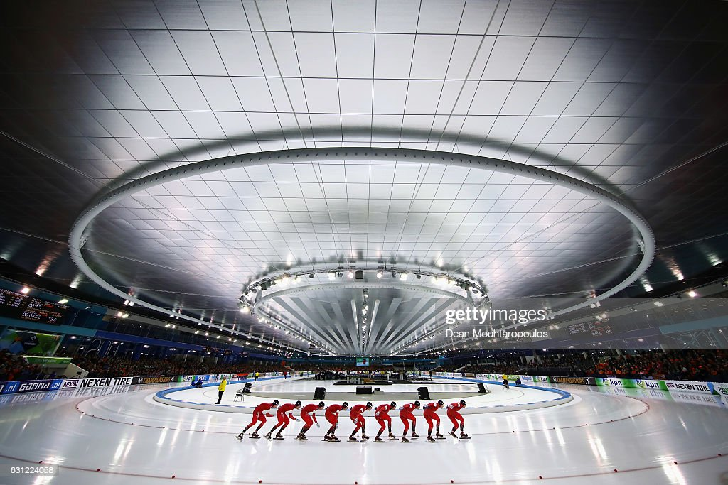 Sverre LundePedersen of Norway competes in the 10000m Mens Allround Race on Day Three of the ISU European Speed Skating Championships held at the Thialf on January 8, 2017 in Heerenveen, Netherlands.