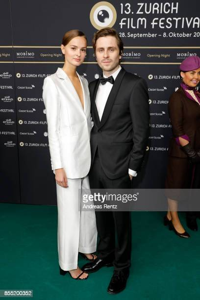 Sverrir Gudnason and his girlfriend Amy Zeilon attend the opening ceremony and 'Borg vs McEnroe' premiere at the 13th Zurich Film Festival on...