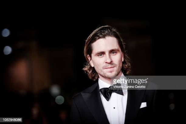Sverrir Gudnason walks the red carpet ahead of the 'The Girl In The Spider's Web' screening during the 13th Rome Film Fest at Auditorium Parco Della...