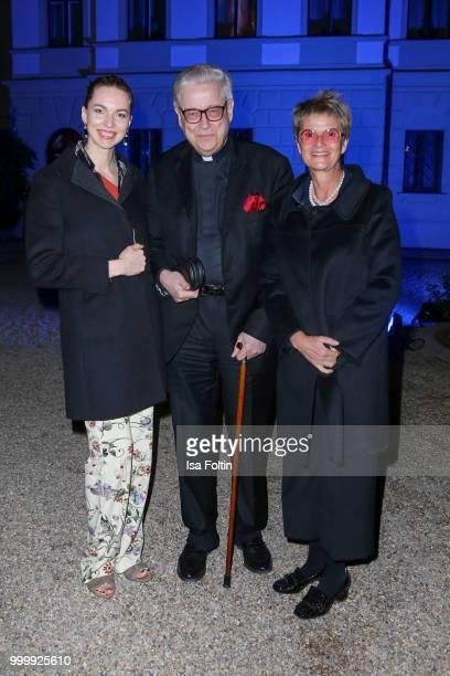 Sveta Driga Wilhelm Imkamp and Gloria von Thurn und Taxis attend the Thurn Taxis Castle Festival 2018 'Evita' Musical on July 15 2018 in Regensburg...