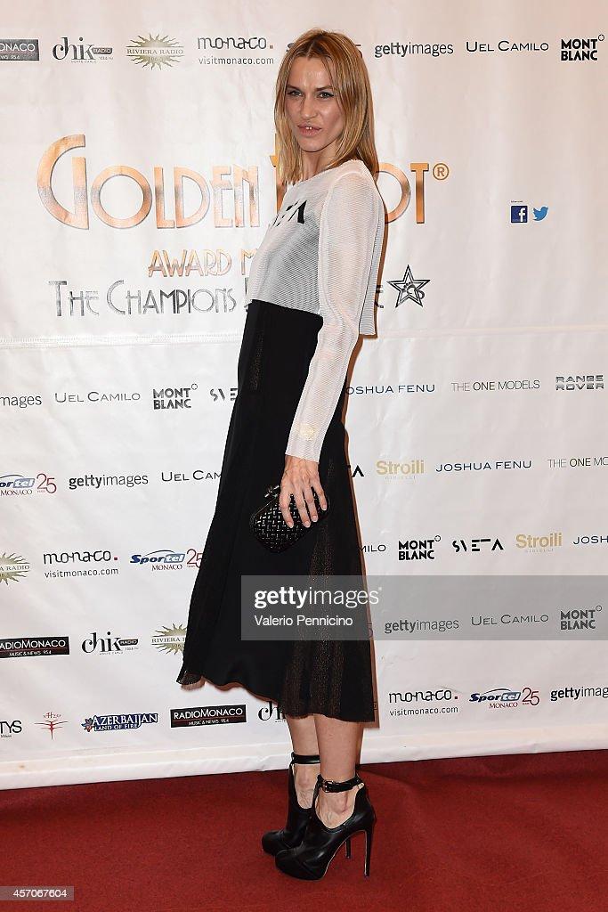 Sveta Sotnikova attends the Golden Foot - Footprints Ceremony on October 11, 2014 in Monte-Carlo, Monaco.