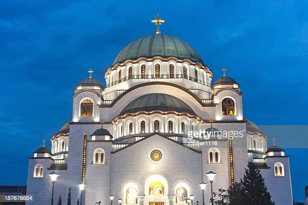 sveti sava-tempel in belgrad, serbien - belgrad stock-fotos und bilder