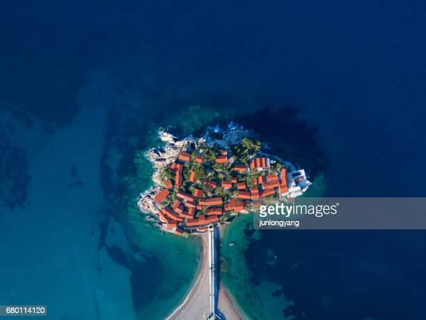 sveti stefan - montenegro stock pictures, royalty-free photos & images
