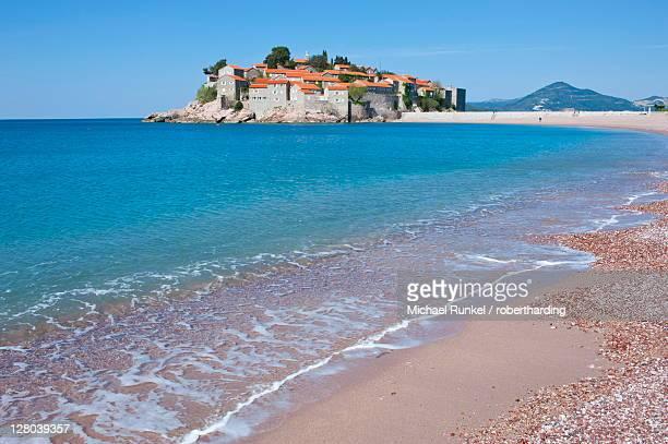 Sveti Stefan, seaside resort in western Montenegro, Europe