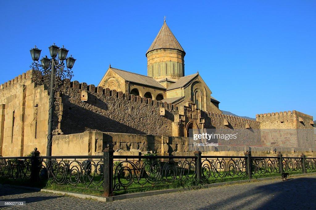 Svetitskhoveli cathedral in Mtskheta : Stockfoto