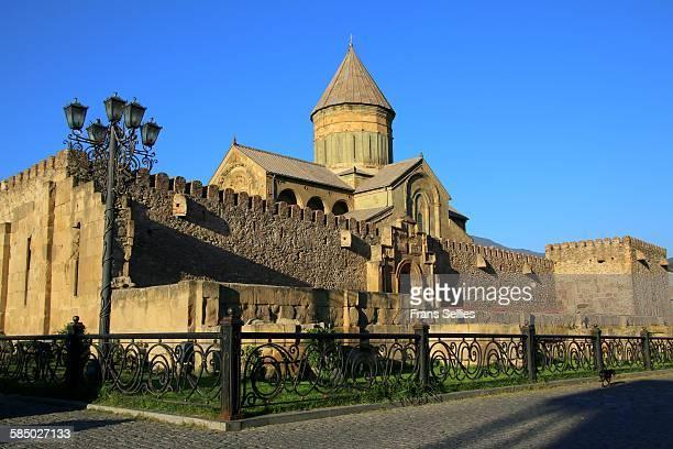 svetitskhoveli cathedral in mtskheta - frans sellies stockfoto's en -beelden