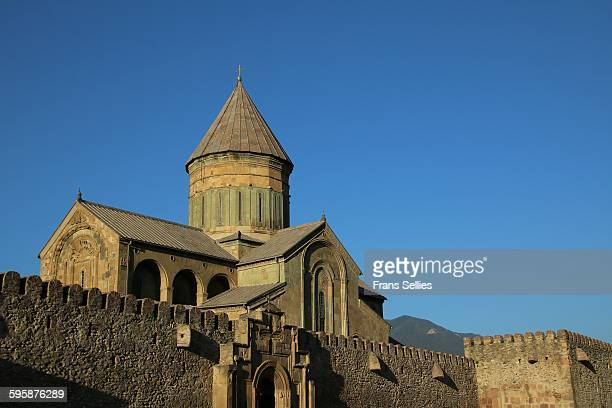 svetitskhoveli cathedral, mtskheta, georgia - frans sellies stockfoto's en -beelden