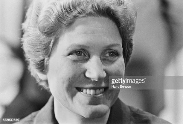Svetlana Alliluyeva the daughter of Joseph Stalin at a press conference in New York City USA 1967