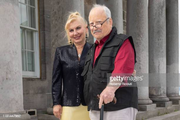 Svetlana Erokhin and husband Richard Dreyfuss attend a photocall for the World Premiere of 'Astronaut' during the 73rd Edinburgh International Film...