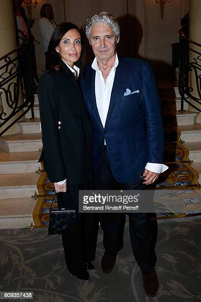 Svetlana Garrel and actor Michael Nouri attend the Charity Dinner to Benefit 'Claude Pompidou Foundation' following the Cezanne et Moi movie Premiere...