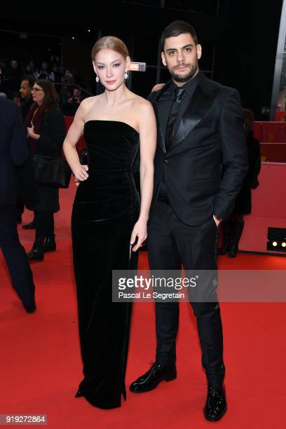 Svetlana Khodchenkova and Milan Maric attend the 'Dovlatov' premiere during the 68th Berlinale International Film Festival Berlin at Berlinale Palast...