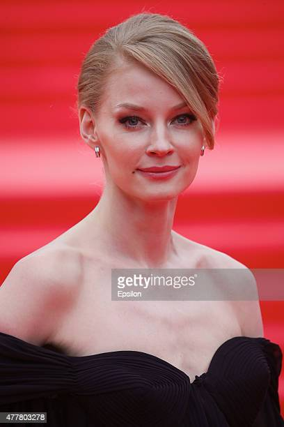 Svetlana Khodchenkova attends the opening ceremony of the Moscow International Film Festival at Pushkinsky Cinema on June 19 2015 in Moscow Russia