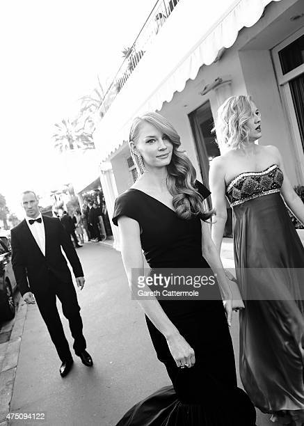 Svetlana Khodchenkova departs the Martinez Hotel during the 68th annual Cannes Film Festival on May 16 2015 in Cannes France