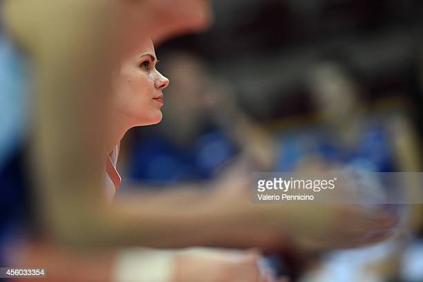 Svetlana Kryuchkova of Russia looks on during the FIVB Women's World Championship pool C match between Russia and Mexico on September 24 2014 in...