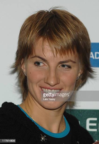 Svetlana Kuznetsova at the Palace Hotel in Madrid, Spain during a photocall prior to the Sony Ericsson Madrid Masters on November 6, 2006.