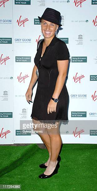 Svetlana Kuznetsova during PreWimbledon Party Arrivals at Kensington Roof Gardens in London Great Britain