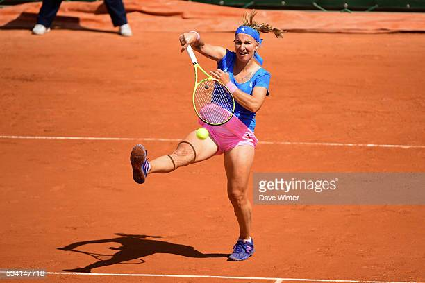 Svetlana Kuznetsova during the Women's Singles second round on day four of the French Open 2016 at Roland Garros on May 25 2016 in Paris France