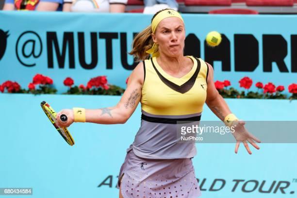 Svetlana Kuznetsova of Rusia against Alison Riske of EEUU during day three of the Mutua Madrid Open tennis at La Caja Magica on May 8 2017 in Madrid...