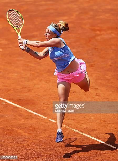 Svetlana Kuznetsova of Russia in action against Daria Gavrilova of Australia during day five of The Internazionali BNL d'Italia 2016 on May 12 2016...