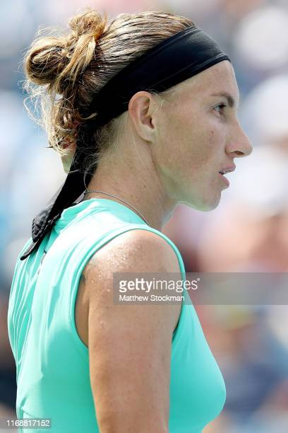 Svetlana Kuznetsova of Russia plays Madison Keys during the women's final of the Western Southern Open at Lindner Family Tennis Center on August 18...