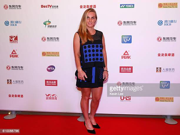 Svetlana Kuznetsova of Russia poses for a picture at DongFeng Motor Wuhan Open Player Party at Wanda Realm Hotel on September 24 2016 in Wuhan China