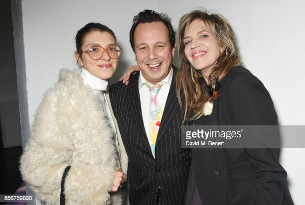 Svetlana Marich Detmar Blow and Martha Fiennes attend The Annual Friends Of The Institute of Contemporary Arts dinner honouring Bryan Ferry at The...