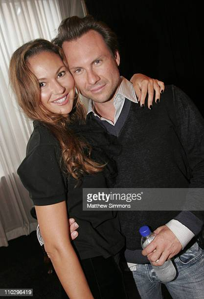 Svetlana Metkina and Christian Slater during 2006 Diesel Portrait Studio Presented by Inside Entertainment and Wireimage - Day 6 at Portrait Studio...