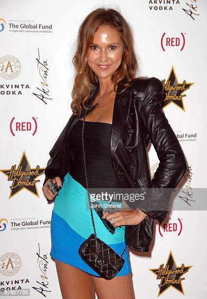 Svetlana Metkina attends the Akvinta Presents 'A Night of Hollywood Domino' at The House at Cannes during the 62nd Annual Cannes Film Festival on May...