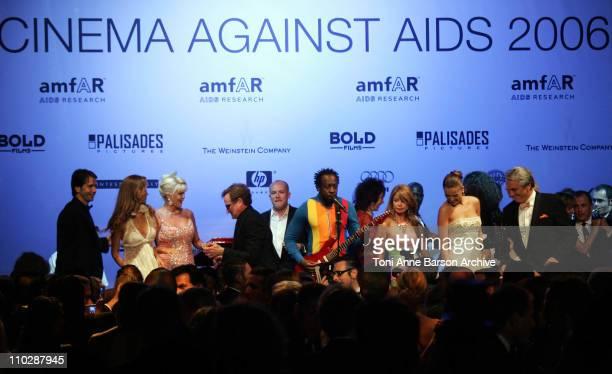 Svetlana Metkina, Ivana Trump, Robin Williams, Cassian Elwes, Wyclef Jean, Petra Nemcova and Vin Roberti