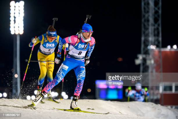 Svetlana Mironova of Russia in action competes during the Women 15 km Individual Competition at the BMW IBU World Cup Biathlon Oestersund at on...