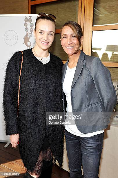 Svetlana Poliansky and guest attend Sabine Brouillet's jewelry pop up hosted by Nikita Kahn and Katya Teper at Nobu Malibu on December 14 2016 in...