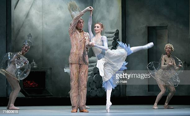 Svetlana Zakharova Alexei Loparevich of the Moscow Bolshoi Theater Cinderella Ballet perform at the Royal Opera House in Covent Garden on August 7...