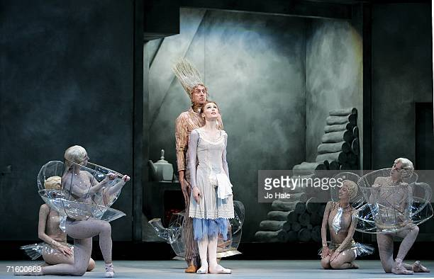 Svetlana Zakharova and Alexei Loparevich of the Moscow Bolshoi Theater Cinderella Ballet perform at the Royal Opera House in Covent Garden on August...