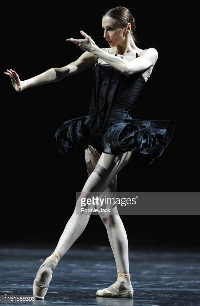 Svetlana Zakharova performs in Mauro Bigonzetti's Come Un Respiro at The London Coliseum on December 02 2019 in London England