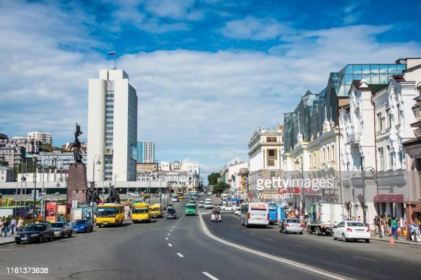 svetlanskaya street, vladivostok, russia - ロシア ストックフォトと画像