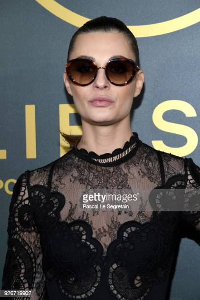 Sveva Alviti attends the Elie Saab Show as part of the Paris Fashion Week Womenswear Fall/Winter 2018/2019 on March 3, 2018 in Paris, France.