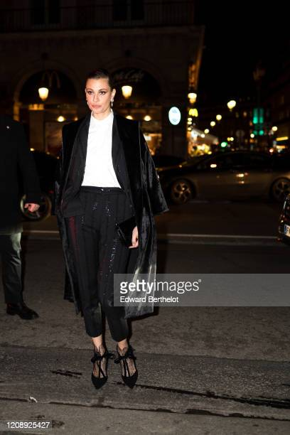 Sveva Alviti attends the Harper's Bazaar Exhibition as part of the Paris Fashion Week Womenswear Fall/Winter 2020/2021 At Musee Des Arts Decoratifs...