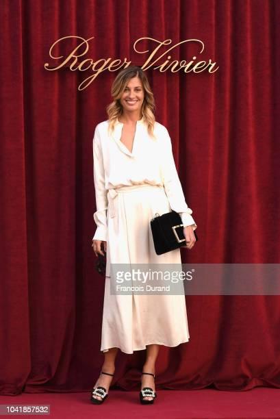 Sveva Alviti attends the Roger Vivier Presentation Spring/Summer 2019 during Paris Fashion Week on September 27 2018 in Paris France
