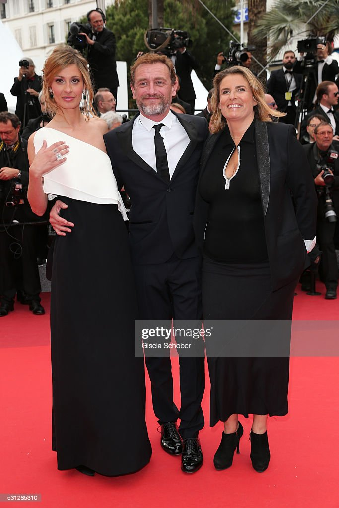 Sveva Alviti, Jean-Paul Rouve and Lisa Azuelos attend the 'Slack Bay (Ma Loute)' premiere during the 69th annual Cannes Film Festival at the Palais des Festivals on May 13, 2016 in Cannes, France.