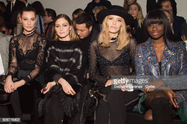 Sveva Alviti Olivia Palermo Elena Perminova and Karidja Toure attend the Elie Saab show as part of the Paris Fashion Week Womenswear Fall/Winter...
