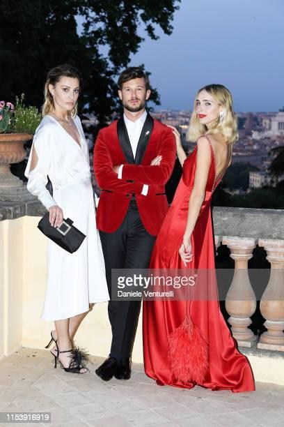 Sveva Alviti Paolo Stella and Candela Pelizza attend the McKim Medal Gala 2019 at Villa Aurelia on June 05 2019 in Rome Italy