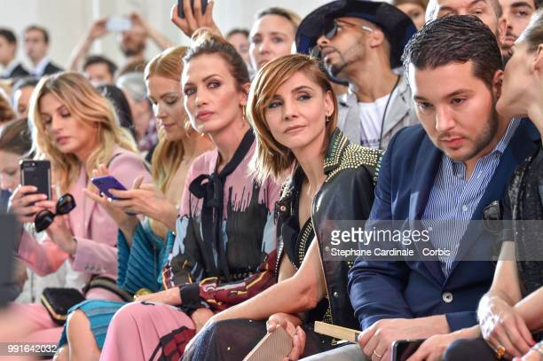 Sveva Alviti, Petra Nemcova, Nieves Alvarez and Clotilde Courau attend the Elie Saab Haute Couture Fall/Winter 2018-2019 show as part of Haute...